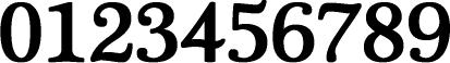 数字のフォント・書体-10