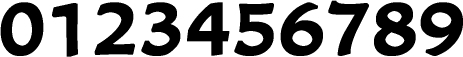 数字のフォント・書体-11