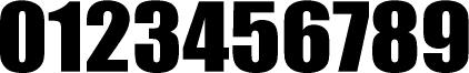 数字のフォント・書体-13