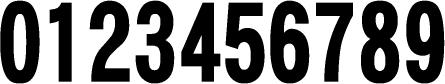 数字のフォント・書体-15
