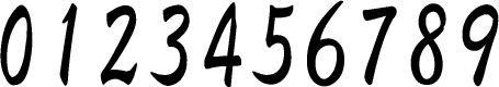 数字のフォント・書体-17