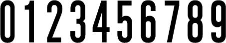 数字のフォント・書体-18