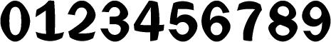数字のフォント・書体-19